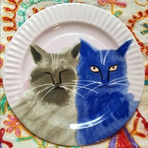 Anthropologie holly frean cat super rare plate